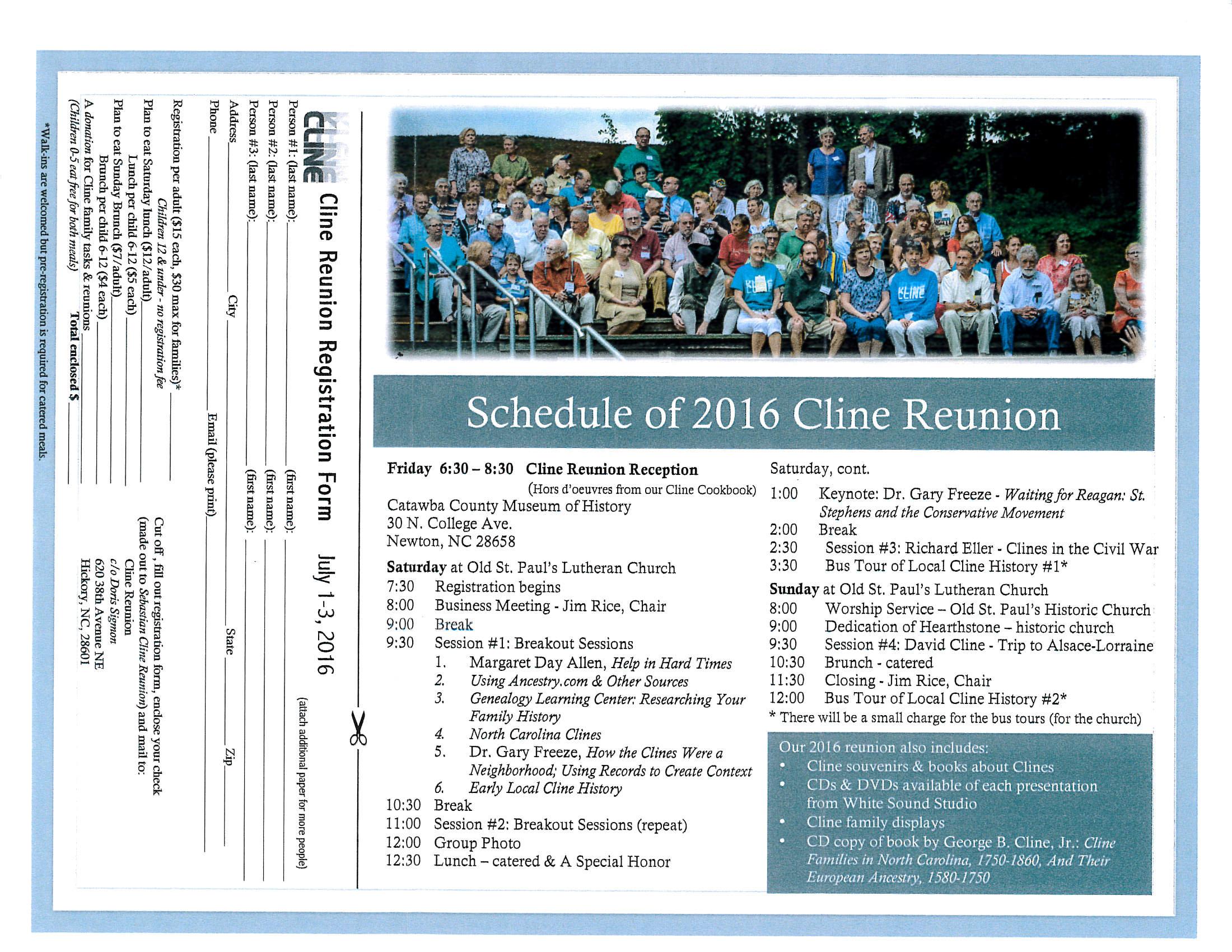 Fairfield County Genealogy Society - 2016 Past Reunions