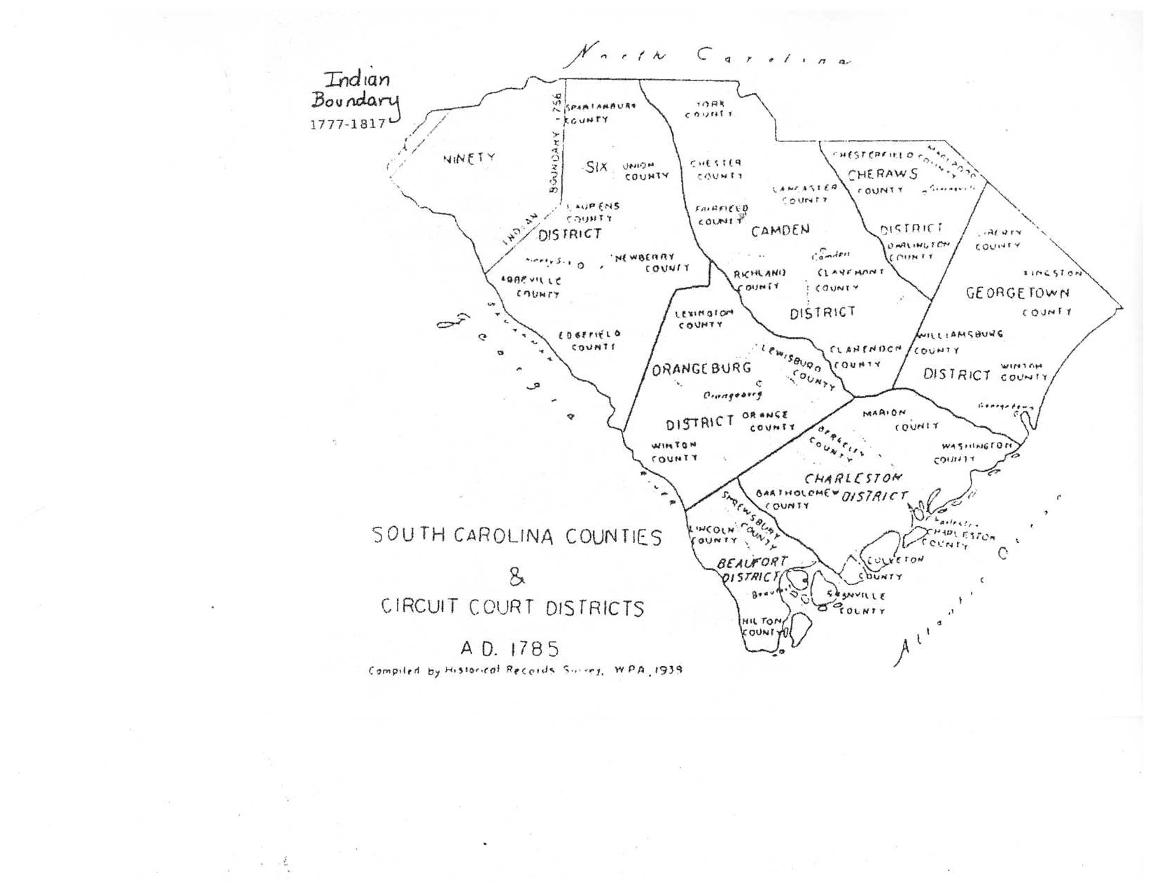 Fairfield County Genealogy Society SC Counties And Circuit Court - Map of us circuit court districts
